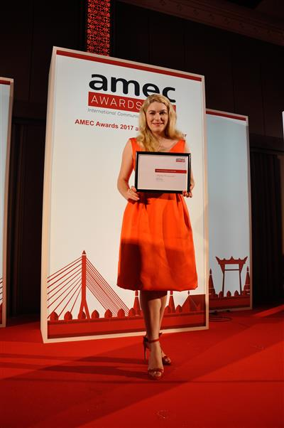 Australian Alice Collins First PR Professional to Win An International AMEC Young Professional of the Year Award