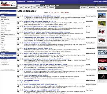 The Bikedeadline homepage.