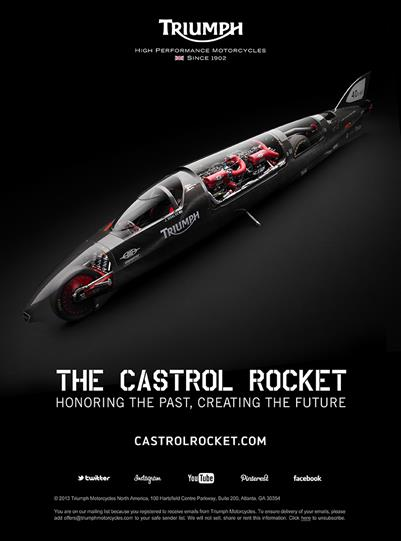 Castrol Rocket Aims for World Land Speed Record