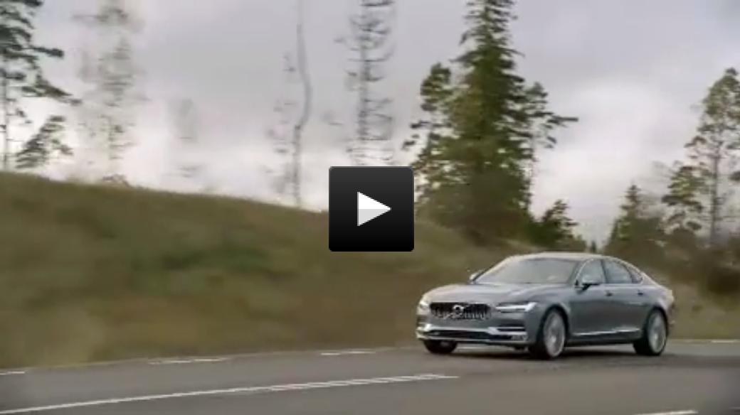Volvo S90 running footage.
