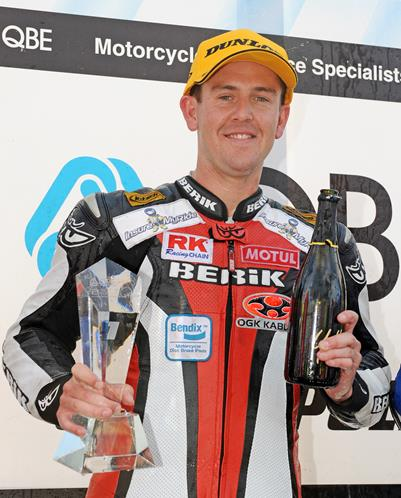 A Triumph for Supersport Championship AARK Racing's Mitchell Carr puts 675 back on top