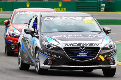 Finch Rolls, McEwen Wins Mazda3 Celebrity Challenge Race In A Thriller