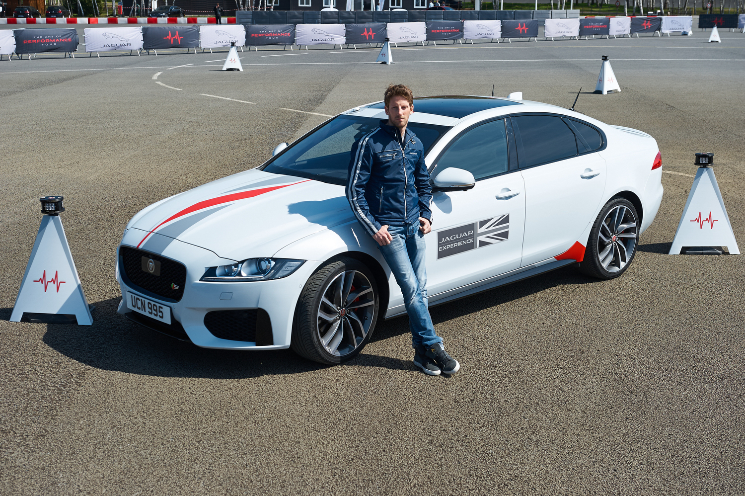Can You Beat F1 Star Romain Grosjean In A Jaguar XF?