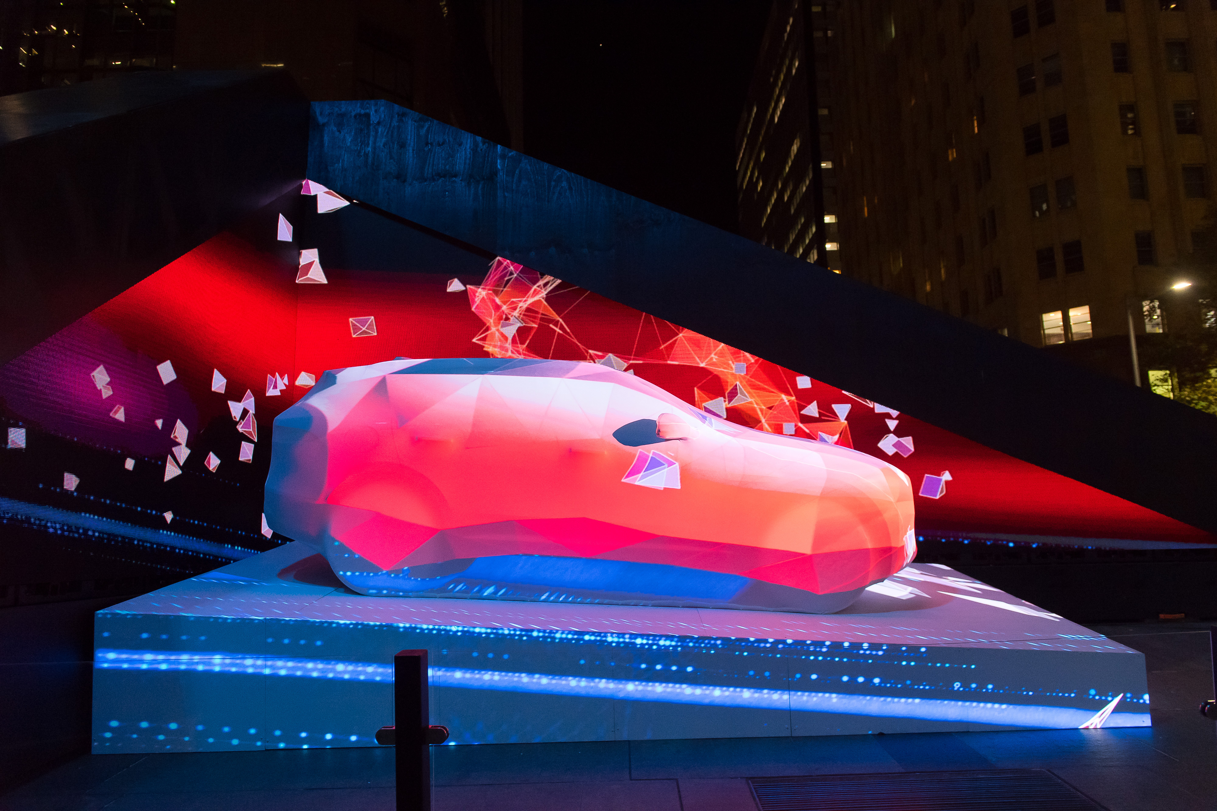 Jaguar's Captivating Performance At Vivid Sydney 2016 Jaguar Lights Up The All-New Jaguar F-Pace In Martin Place With 'The Art Of Performance'