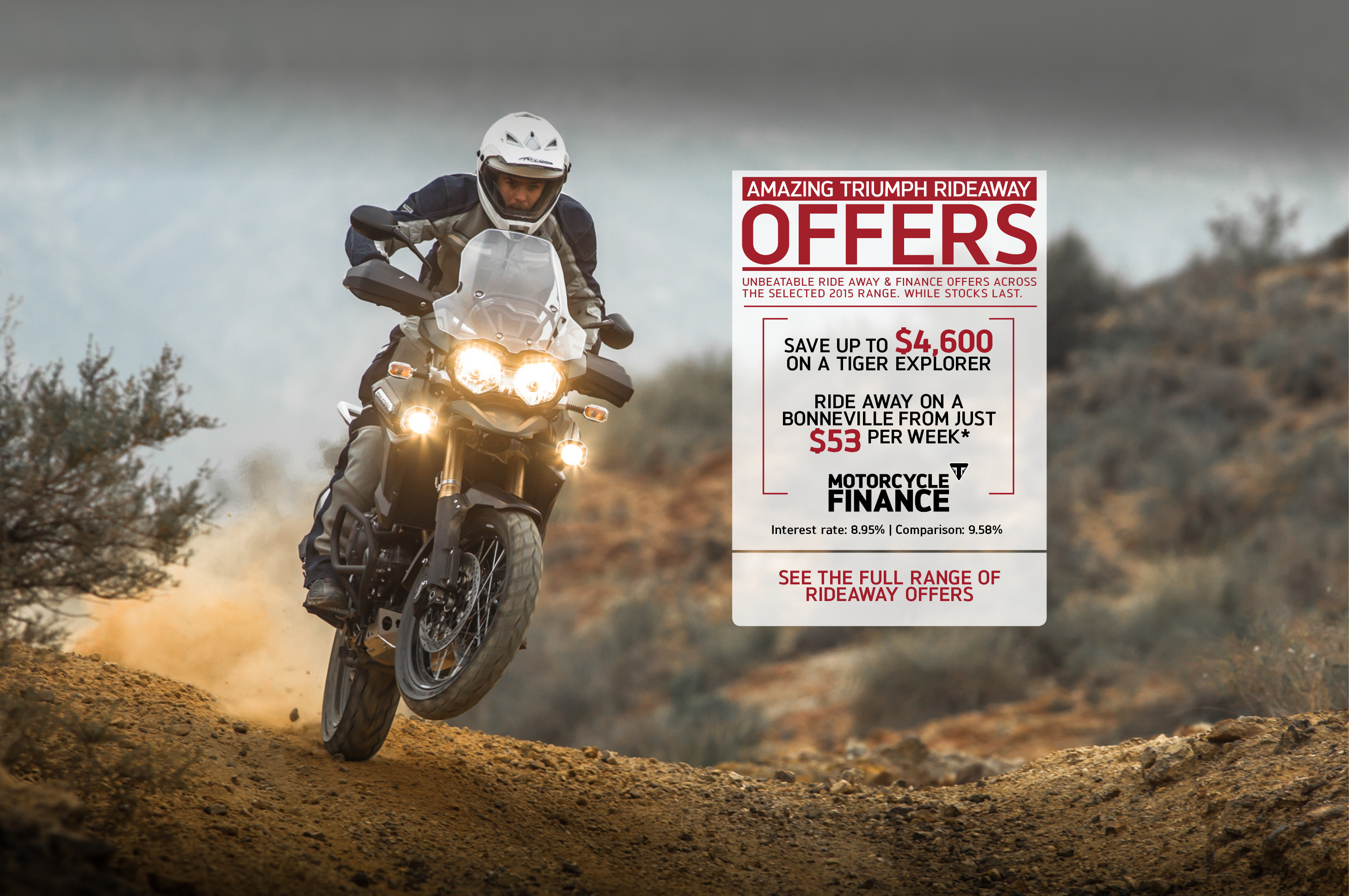 Amazing Triumph Rideaway Offers