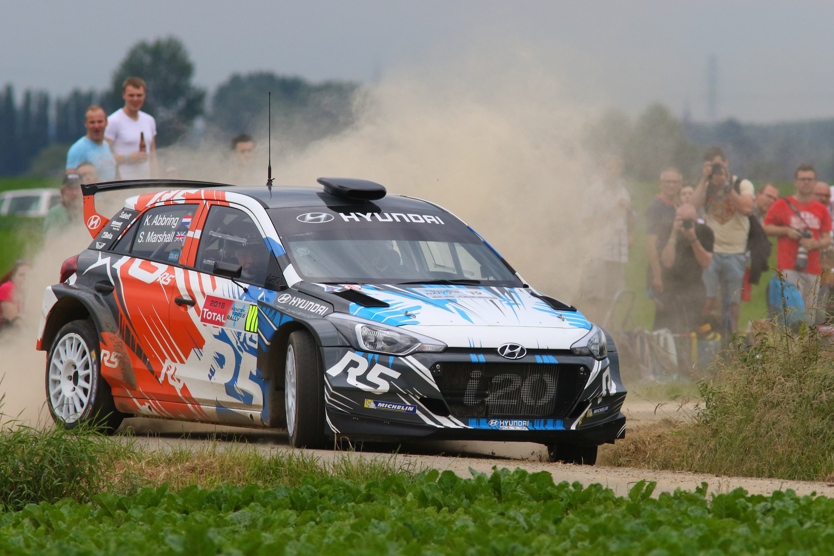 Hyundai Motorsport's New Generation i20 R5 grabs attention at the Ypres Rally