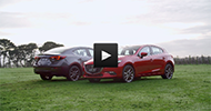 Mazda3 static b-roll for Astina hatch and sedan.