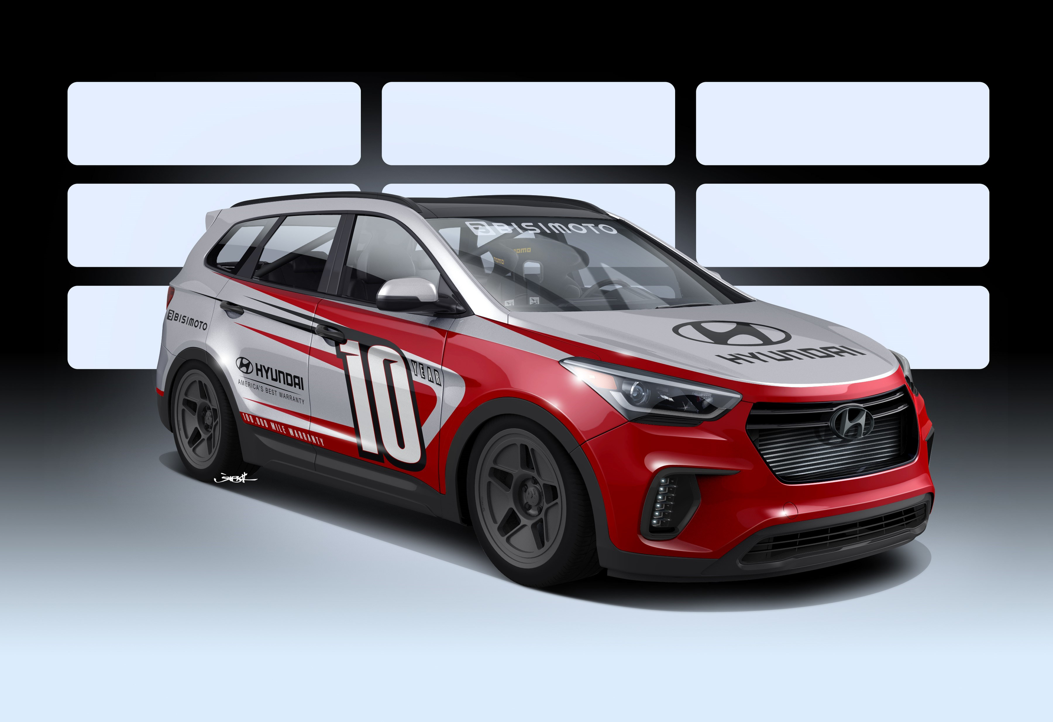 "Hyundai joins forces with Bisimoto to develop ""Santa-Fast"" 1,000 horsepower Santa Fe"