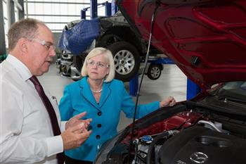 Assistant Minister for Vocational Education & Skills supports Mazda Australia's Registered Training Organisation