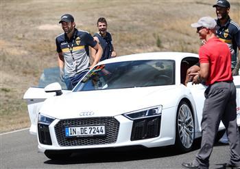 Audi Ambassador Jordan Lewis leads teammates in a tailored Audi Driving Experience