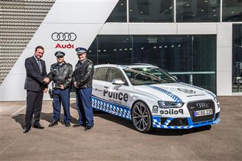 The Audi RS 4 Avant serves the NSW Police Force