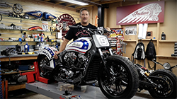 To honour the Indian Scout, which has always been the first choice for death-defying Silodrome riders, Indian Motorcycles is releasing a very limited run of custom-built Wall of Death Scouts. Created by Johnny Gee of Antique Motorcycles in Melbourne, these stunning and exclusive customs were something Johnny had always wanted to build.