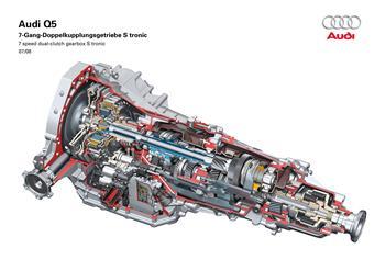 Audi seven-gear S tronic transmission