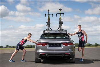 Sibling Rivalry: Olympic Athletes Compete In Unique Jaguar XF Triathlon