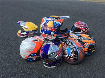 Priceless collection of elite athlete custom painted helmets to feature in Sydney Motorcycle Show art showcase