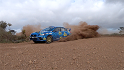 The Subaru do Motorsport team has made a strong start over the first fours stages of Heat One of Lightforce Rally South Australia this afternoon, seizing overall second place following a mechanical mishap for CAMS Australian Rally Championship leader Harry Bates.  Molly Taylor and Bill Hayes, in the Production Rally Car (PRC) class All-Wheel Drive WRX STI, were consistently second to Nathan Quinn's Mitsubishi Lancer Evo IX over the quartet of stages.