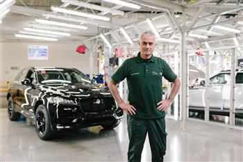 José Mourinho Makes Surprise Visit To Jaguar Production Line
