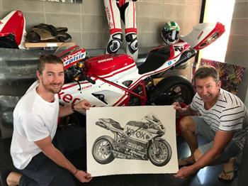 Sydney Motorcycle Show unveils artwork to be auctioned for Beyond Blue