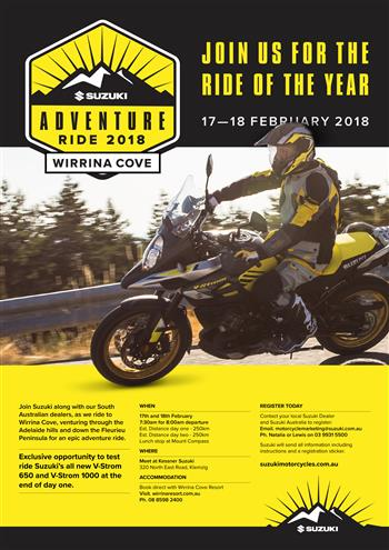 Suzuki Adventure Ride - Wirrina Cove 2018