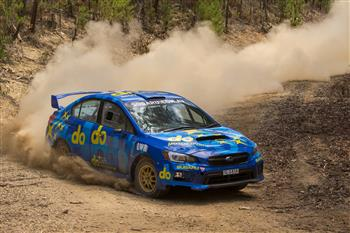Molly Taylor and Subaru do test in Tasmania