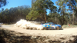 A sixth place finish on Heat 2 of The Courier Eureka Rally in Ballarat, Victoria, today secured valuable points for Subaru do Motorsport team in the CAMS Australian Rally Championship 2018, despite a collision with a kangaroo denting progress.