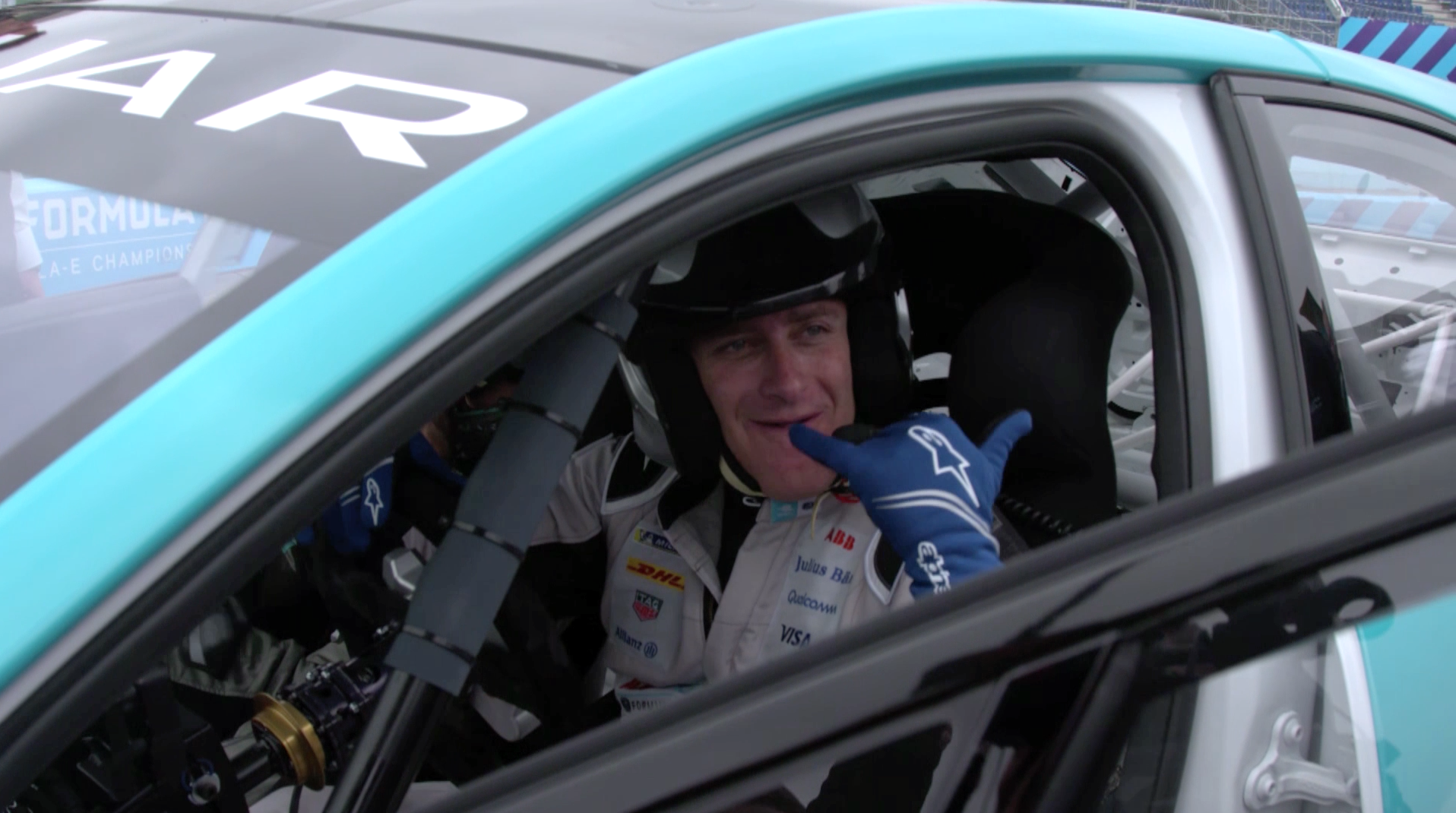 Alejandro Agag, Founder & CEO Formula E (In a eTROPHY Racecar.