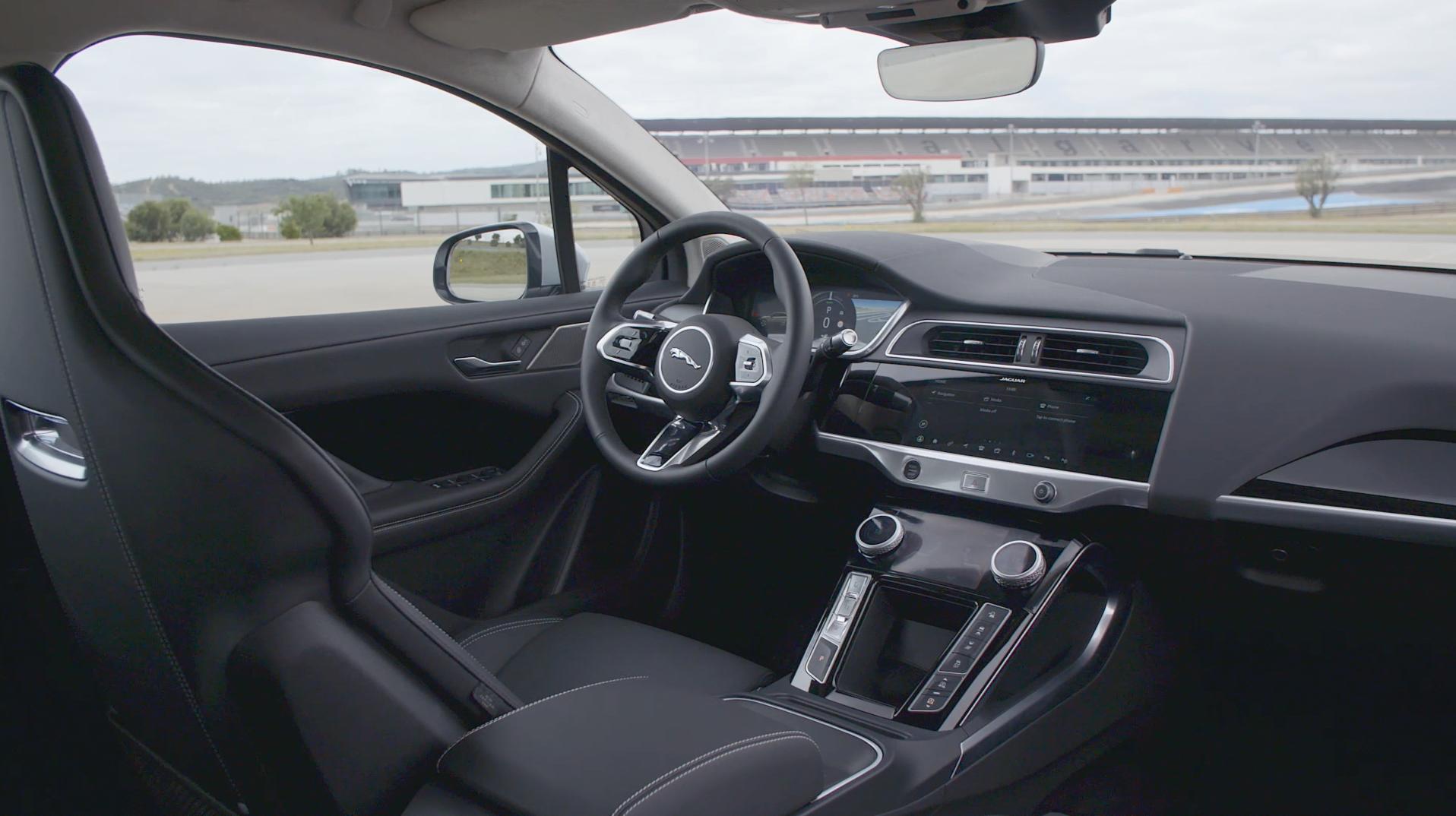 2019 Jaguar I-PACE B-Roll Silver Interiors.