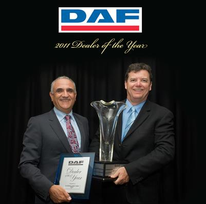 Brown & Hurley Yatala wins DAF Dealer  of the Year award two years in a row