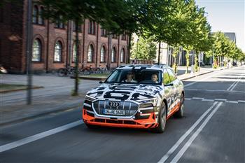 Audi e-tron prototype alone on the big stage