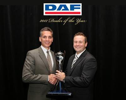 PACCAR Trucks Melbourne crowned DAF Dealer of the Year 2012