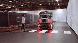 Jaguar Land Rover has fitted 'virtual eyes' to intelligent pods to understand how humans will trust self-driving vehicles, as research studies suggest that as many as 63% of pedestrians worry about how safe it will be to cross the road in the future...