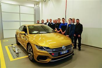 Challenge Accepted: Volkswagen Apprentices build high-performance Arteon Art Car