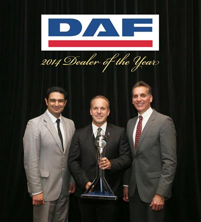 Barry Maney Group Mt Gambier awarded DAF Dealer of the Year accolade