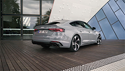 2019 Audi RS 5 Sportback b-roll footage.