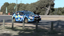 The Orange Motorsport Engineering-prepared All-Wheel Drive Subaru WRX STI  of Molly Taylor and co-driver Malcolm Read finished Heat 1 in fourth place after a modest start on last night's two quick Super Special Stage runs around Busselton's Barnard Park.