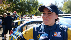 Molly Taylor talks about Heat 1 of the 2019 Make Smoking History Forest Rally.