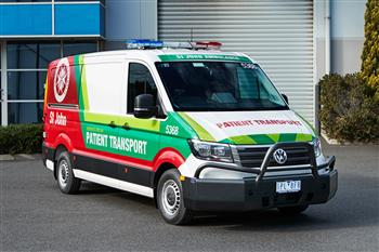 Volkswagen Australia builds custom Crafter fleet for St John Ambulance Victoria