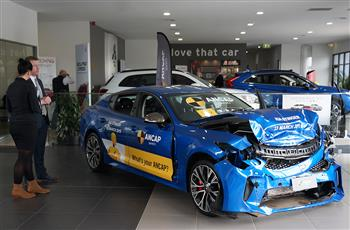New car showrooms display vehicle wrecks – all in the name of safety