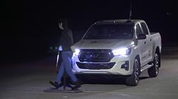 Toyota Hilux (AEB pedestrian night).