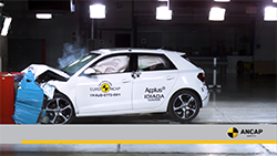 Australasia's independent vehicle safety authority, ANCAP SAFETY, has awarded the Audi A1 a 5 star safety rating – the first light car to achieve the top rating against ANCAP's most stringent test criteria.