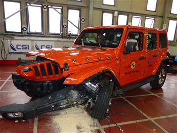 Jeep Wrangler - 3 Star ANCAP Safety rating