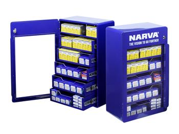 New Narva Automotive Globe Cabinet Free with qualifying Globe Pack purchase