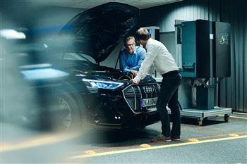 Electric cars as part of the energy transmission: Audi is researching bidirectional charging technology