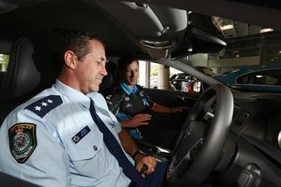 Volvo Polestar Racing drivers hand over S60 Polestar to Police