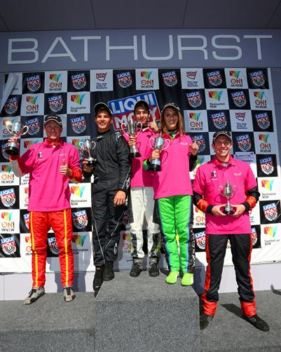 Formula 3 Podium Turns Pink In Support Of Kumho McGrath Foundation Fundraiser As Lap Record Gets Smashed