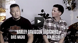 Behind the metal - Harley-davidson designers Dais Nagao and Ben McGinley talk about working at Harley-Davidson and their work on the Iron 883 and the New Forty Eight.