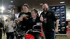 Attendees had the chance to go into the draw to win the major prize of an Indian Scout worth $20,000...