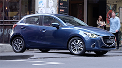 Mazda2 GT Hatch, Eternal Blue b-roll footage.