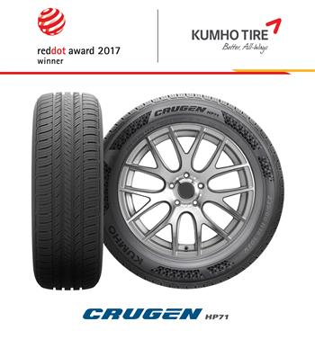 Kumho Wins Red Dot Award for Five Years in a Row