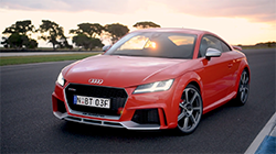 2017 Audi TT RS Coupe & Roadster on track b-roll footage.